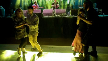 Hipster style set dancing to Seamus Begley and Jim Murray at the Ireland Folkfest Killarney at The INEC, Killarney