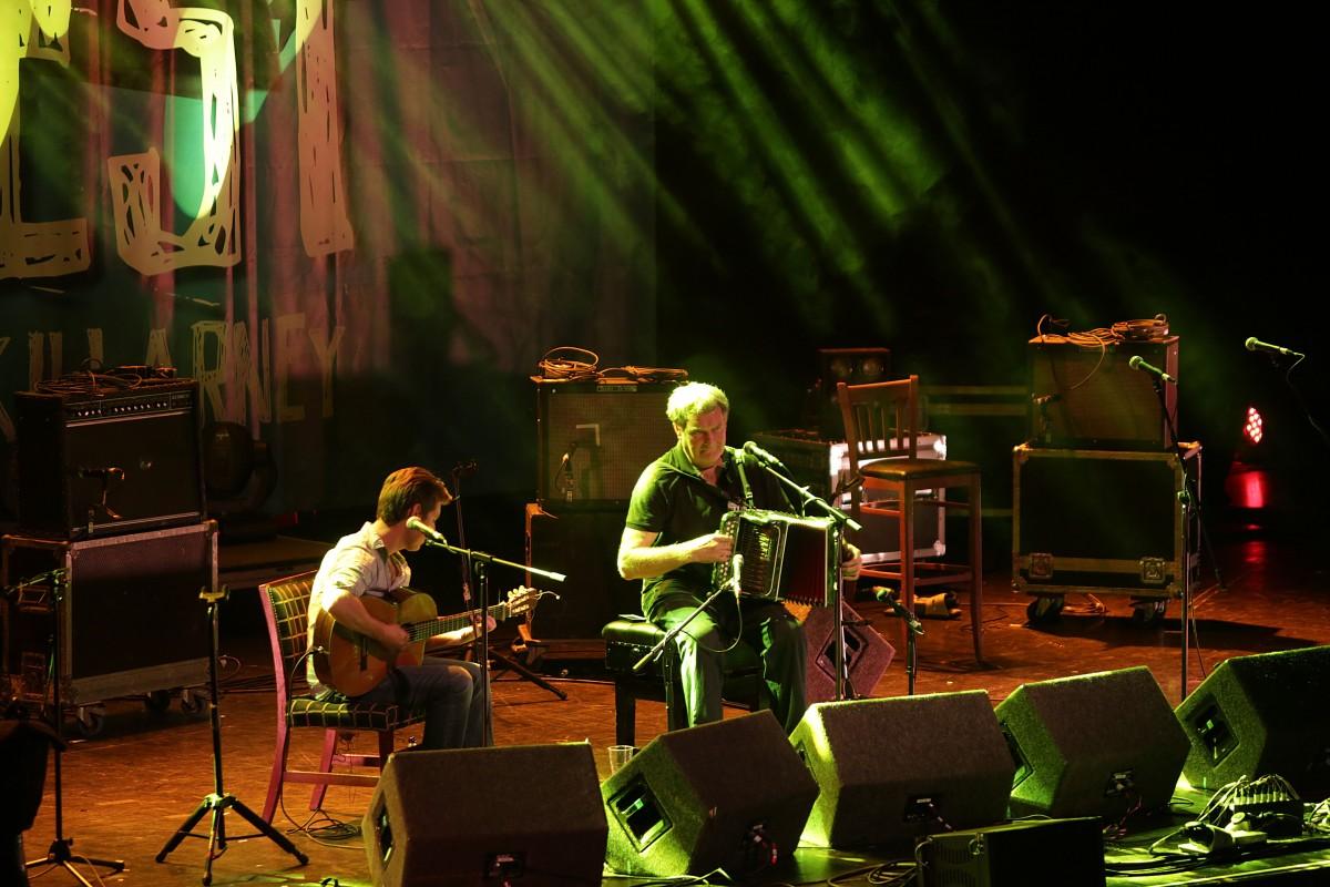 Seamus Begley, Jim Murray, performing at the Ireland Folkfest Killarney, at the INEC, Killarney