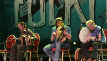 members of Danú performing at the Ireland Folkfest Killarney at the INEC Killarney