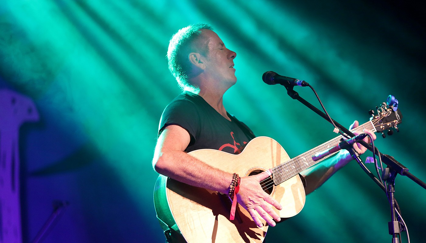 Luka Bloom performing at the Folkfest Killarney at the INEC Killarney