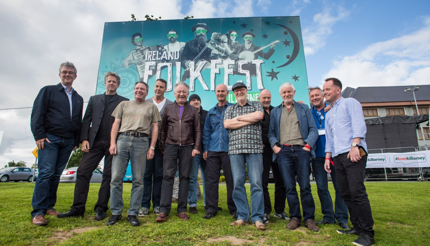 Moving Hearts reunite for the inaugural Folkfest Killarney 2015 at the INEC and Gleneagle Hotel Killarney