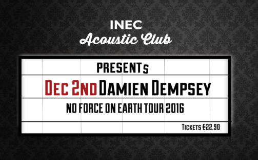 Damien Dempsey to play INEC Acoustic Club on December 2nd