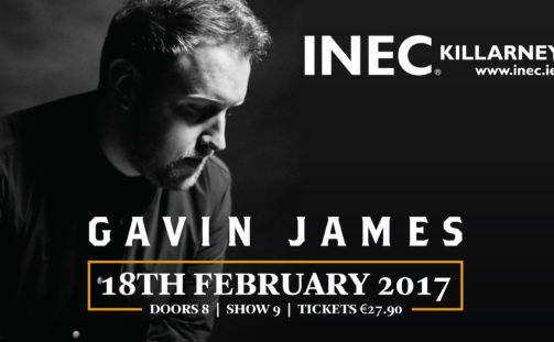 Gavin James announces headline gig in the INEC Killarney on February 18th 2017.
