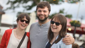 Barbara O'Donoghue, Reuben Taylor and Jane O'Donoghue, at the Killarney Beerfest, at the INEC Killarney