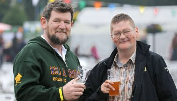 Paul Sheahan, Killarney Brewing Company and Dan Mc Sweeney, at Killarney Beerfest 2016