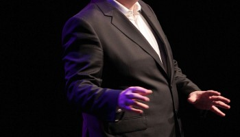 Dara O'Briain performing at the INEC Killarney