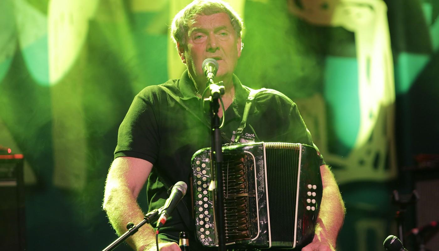 Seamus Begley, performing at the Folkfest Killarney at the INEC, Killarney