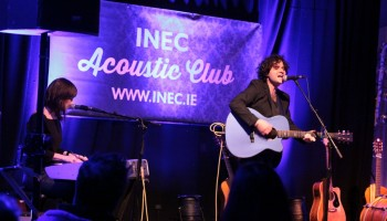 Paddy Casey performing at the INEC Acoustic Club