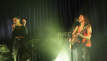 Heathers performing at the INEC Acoustic Club
