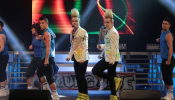 Jedward performing at the INEC Killarney