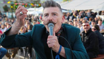 """The Macabre Jerry Fish performing at the Killarney Beerfest with his unique """"The Jerry Fish Electric Sideshow"""" at the INEC, Killarney, June 5th-7th 2015."""