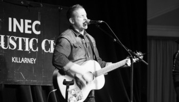 Damien Dempsey performing at the INEC Acoustic Club