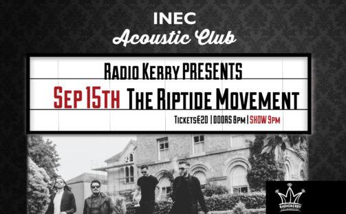 Irish rock's best kept secret The Riptide Movement return to the INEC Acoustic Club Friday September 15.