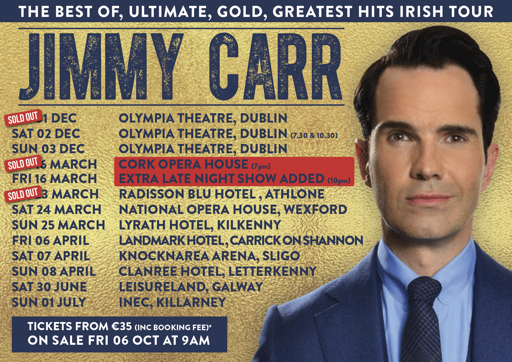 Jimmy Carr The Best Of Ultimate Gold Greatest Hits Tour